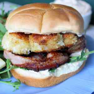 Delicious scallop burger recipe
