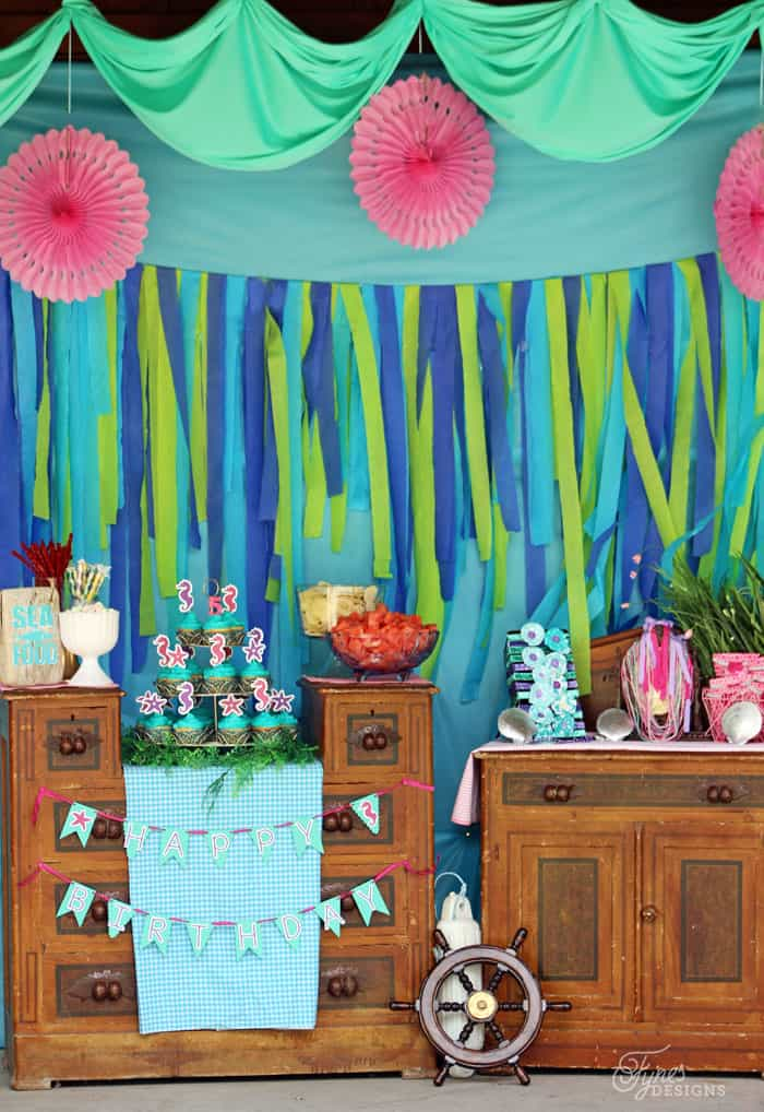 Mermaid party decoration ideas