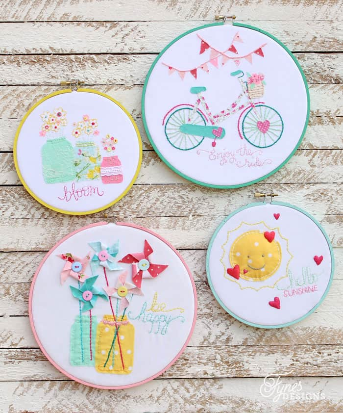 Displayed In This Embroidery Hoop Is A Fantastic: Summer Inspired Embroidery Hoop Art