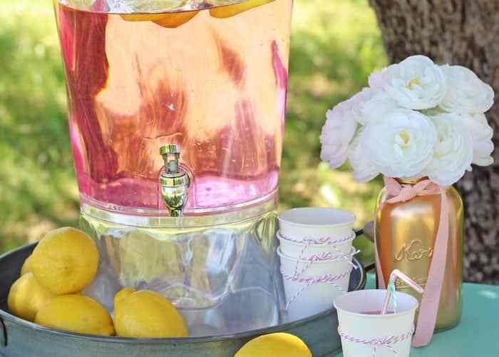 Delicious Pink Lemonade- super sweet lemonade stand ideas
