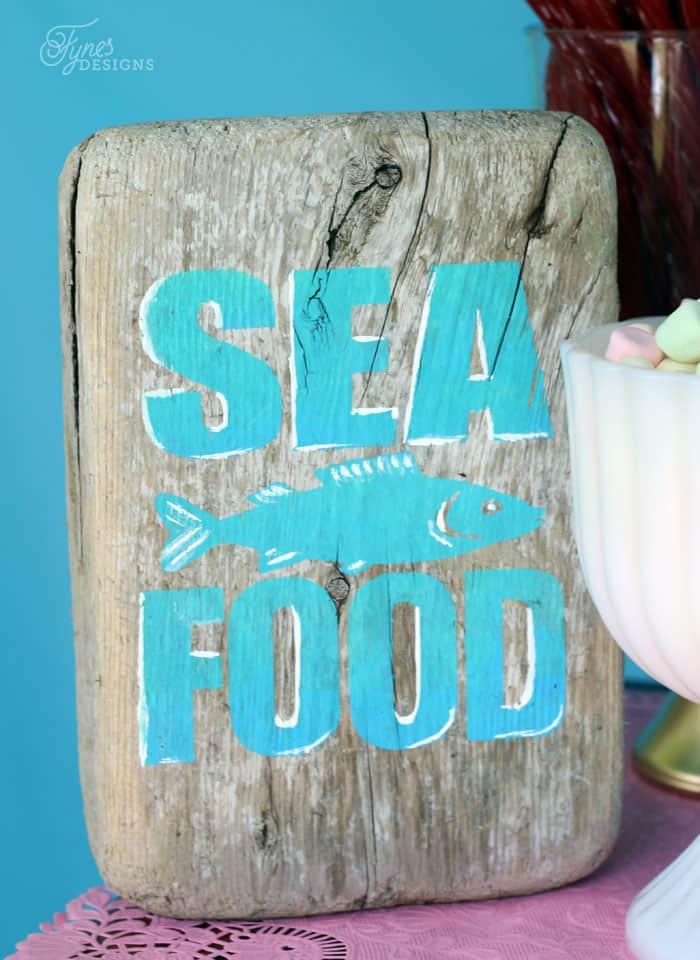 Sea food sign
