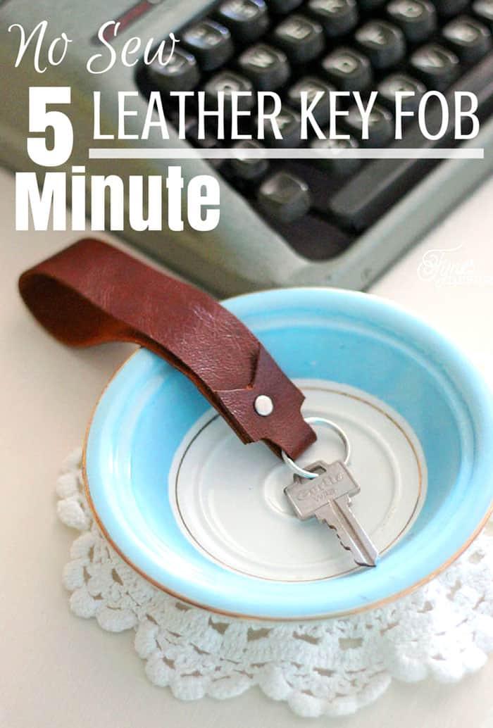 Easy DIY tutorial for a leather key fob