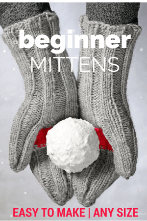 free knitting pattern for beginners- One easy pattern to fit all sizes