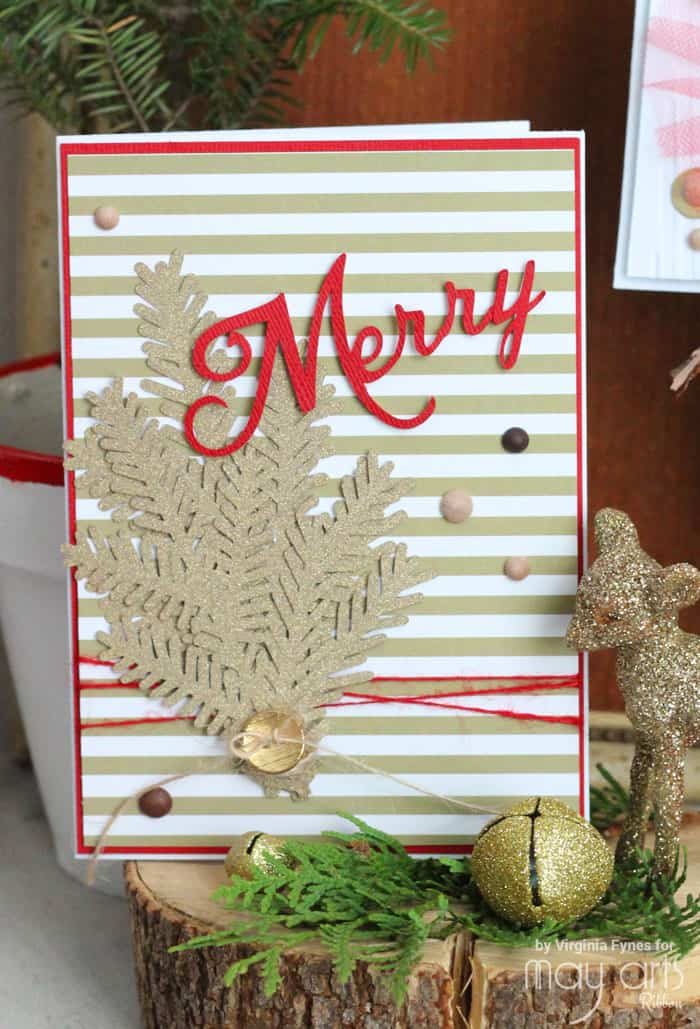 Christmas card Ideas plus FREE Christmas Phrase Silhouette Cut Files