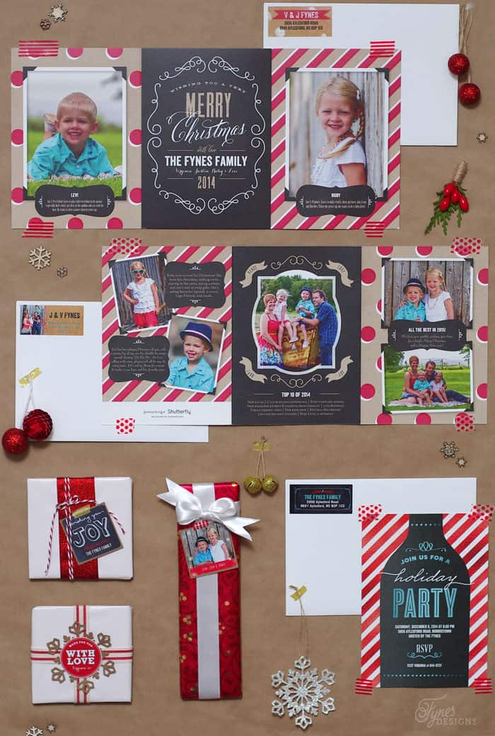 Perfectly Personal™ Christmas stationery suite from Shutterfly