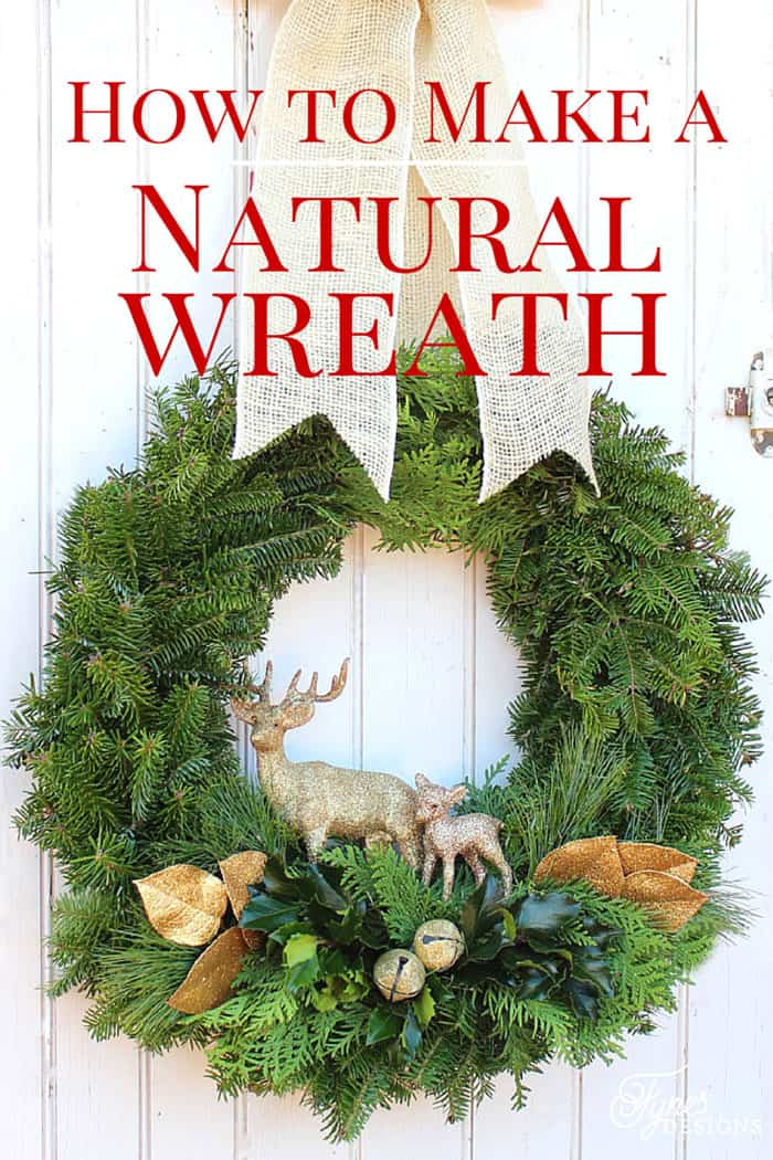 Easy to follow tutorial - How to make a Christmas wreath