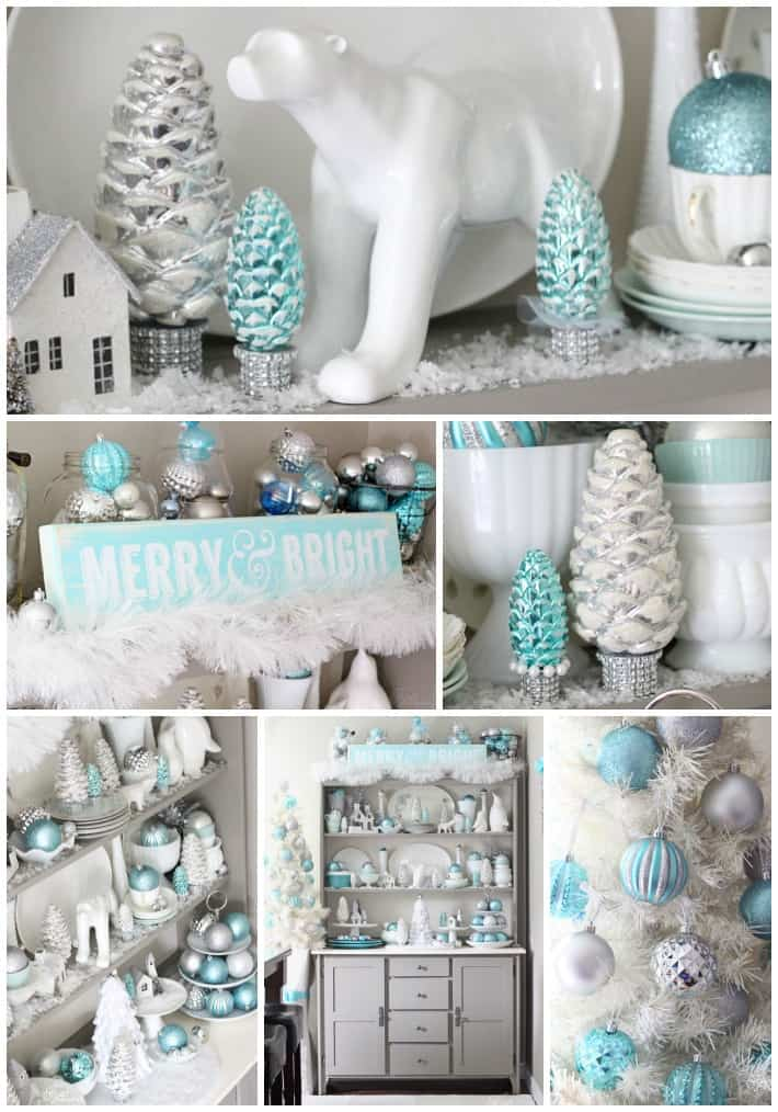 Christmas Hutch Decorating ideas