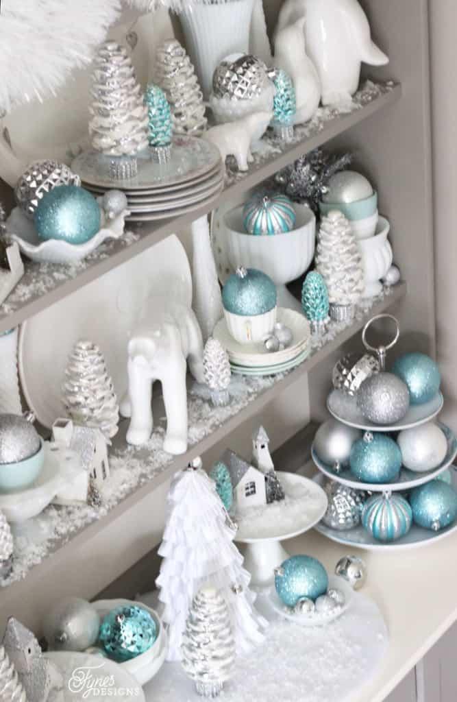kitchen swags walmart ninja mega system bright and shiny christmas hutch - fynes designs | ...