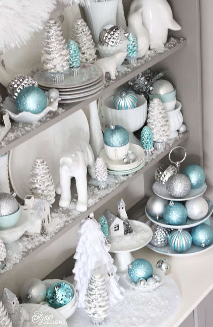 Silver and Blue christmas vignette