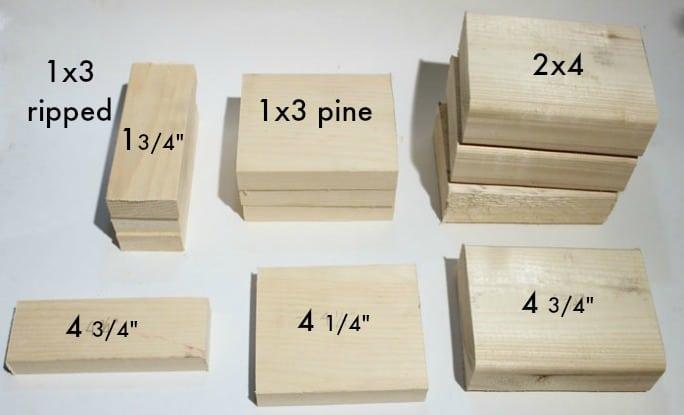 wood cuts stocking holders