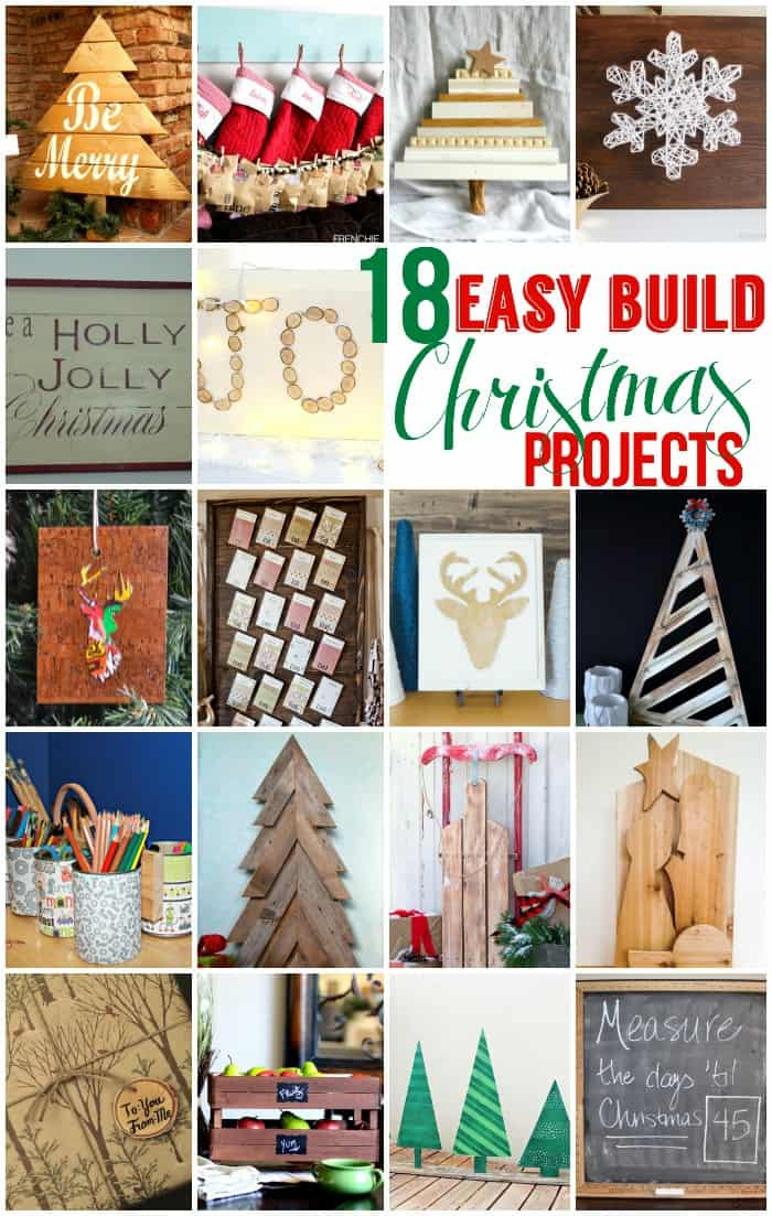 Easy To Build Christmas Projects Gifts and Decor ideas featured by top US craft blog, Fynes Designs