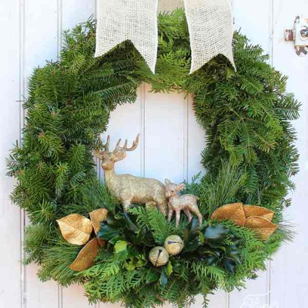Handmade Christmas wreath tutorial