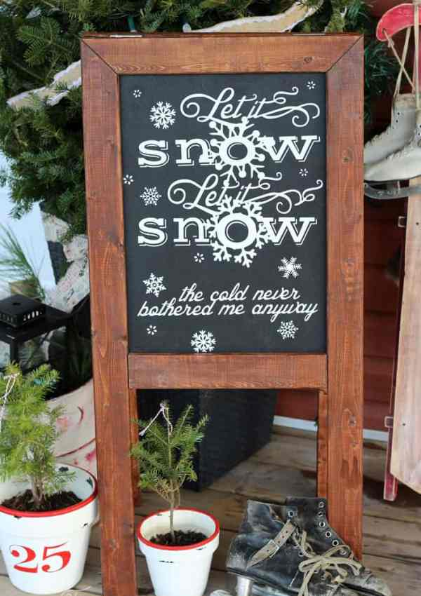 Silhouette Let it Snow Free Cut File