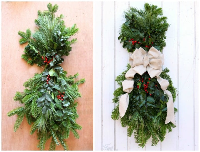 How to make a christmas swag fynes designs fynes designs for Christmas swags and garlands to make