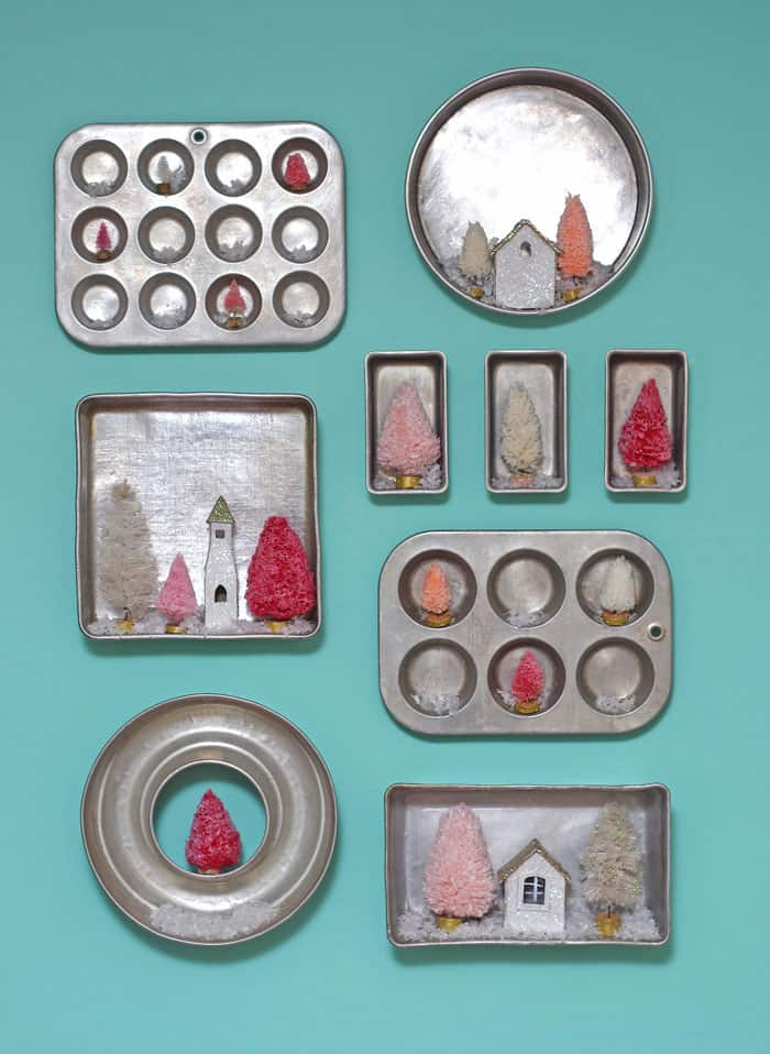 Christmas kitchen baking pan gallery wall