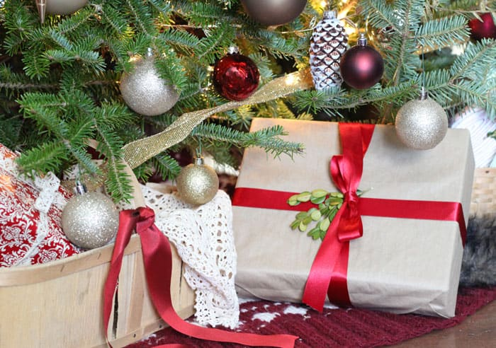 Pretty brown paper packages - Fynes Designs Christmas Home Tour