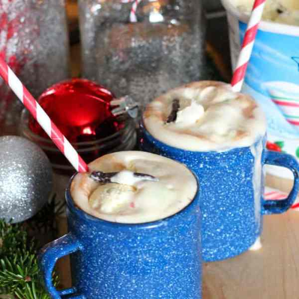 Hot Chocolate Candy Cane Float in one easy step!