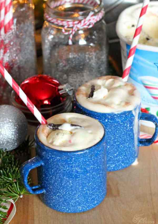 Hot Chocolate Candy Cane Float