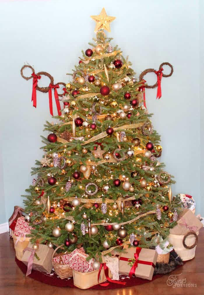 Traditional Christmas tree- Fynes Designs Christmas Home Tour