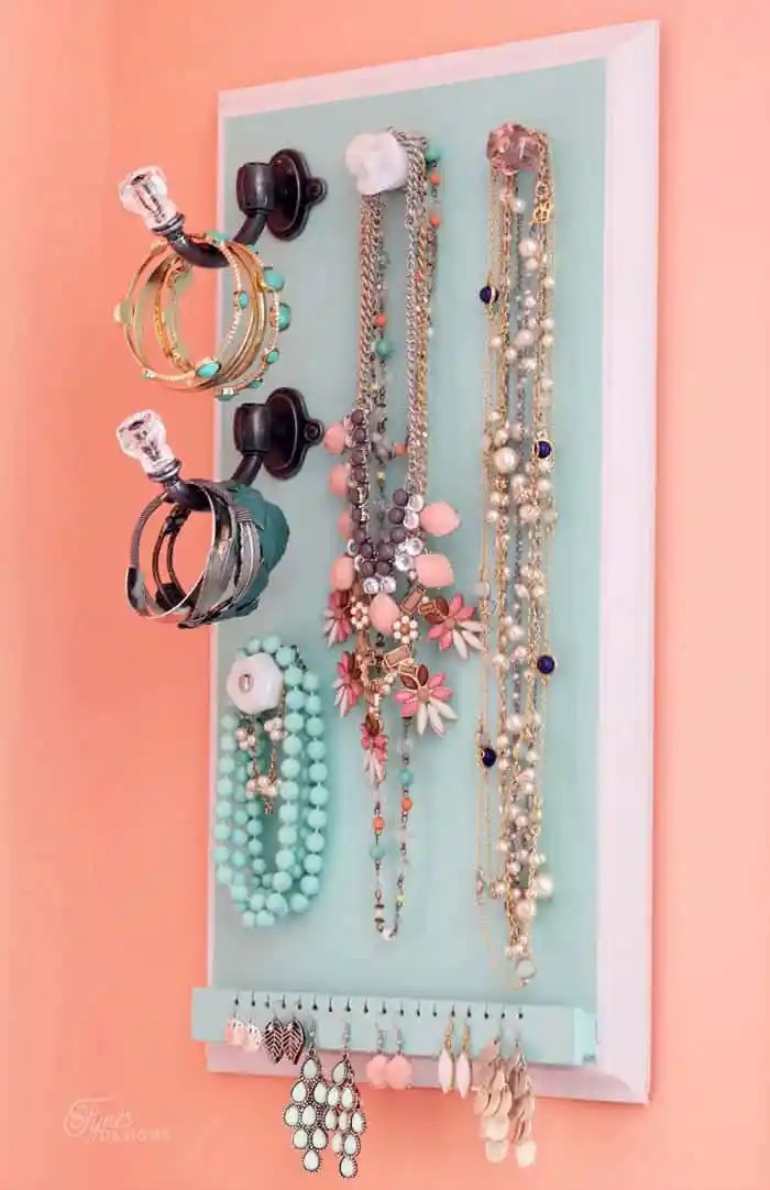 diy easy jewlery organizer