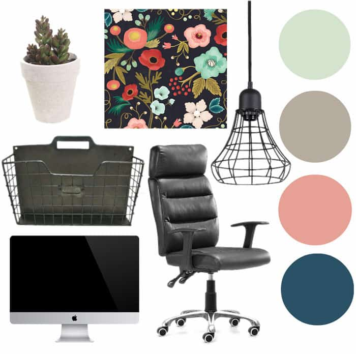 Home office color pallete and inspiration