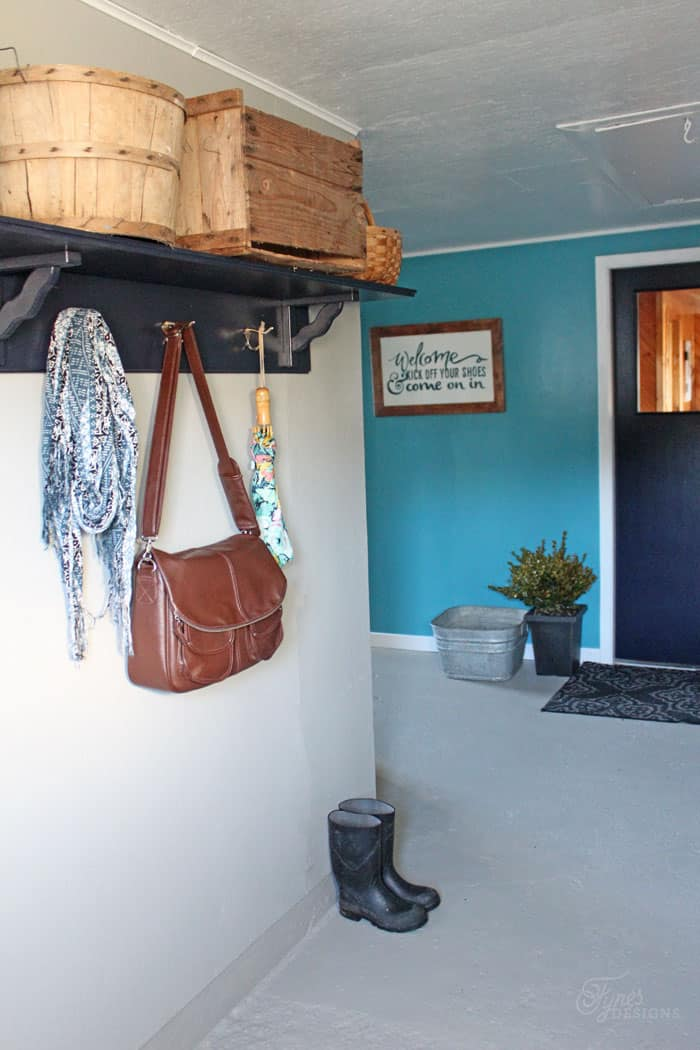Beautiful Mud Room Makeover with Voice of Color PPG paint