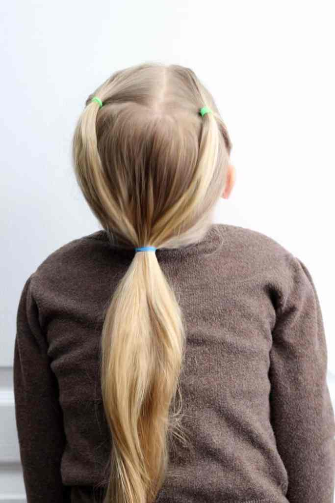 5 Minute Hairstyles for School featured by top US life and style blog, Fynes Designs |5 Minute Hairstyles by popular Canada lifestyle blog, Fynes Designs: image of a girl's ponytail hairstyle.