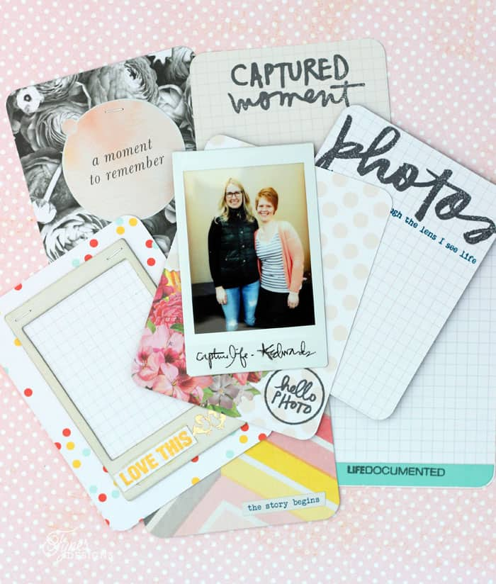 Project Life cards with Ali Edwards Stamps