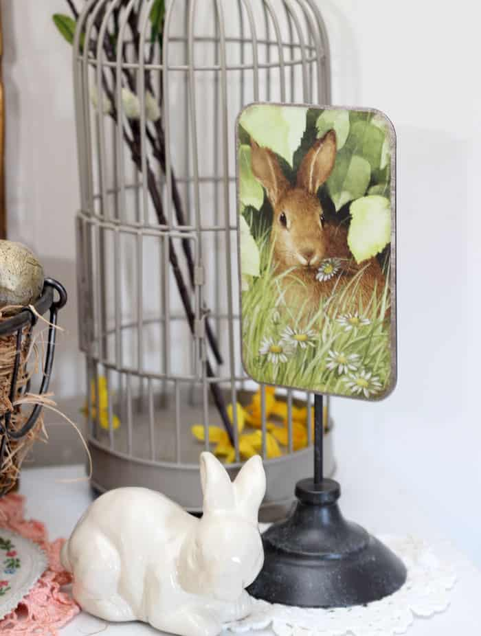 metal Easter bunny sign