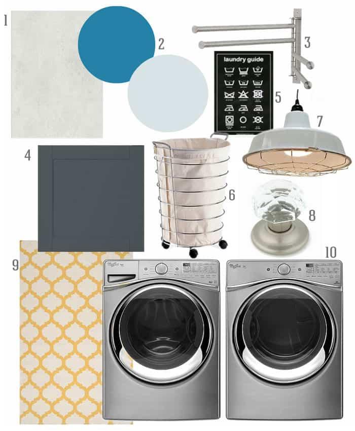 Laundry Room Makeover Mood Board Fynes Designs