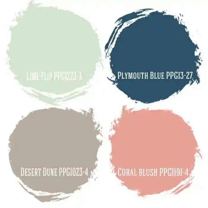 Home Office color combination from PPG Voice  of Color and Fynes Designs