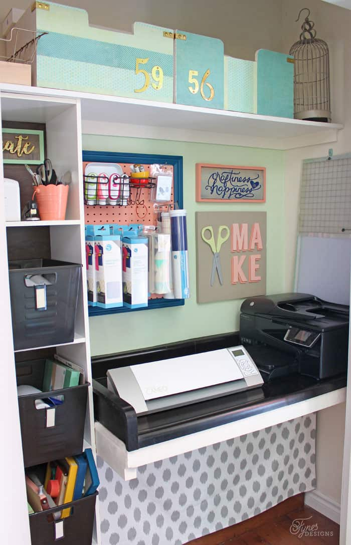 Small Home Office Makeover Fynes Designs