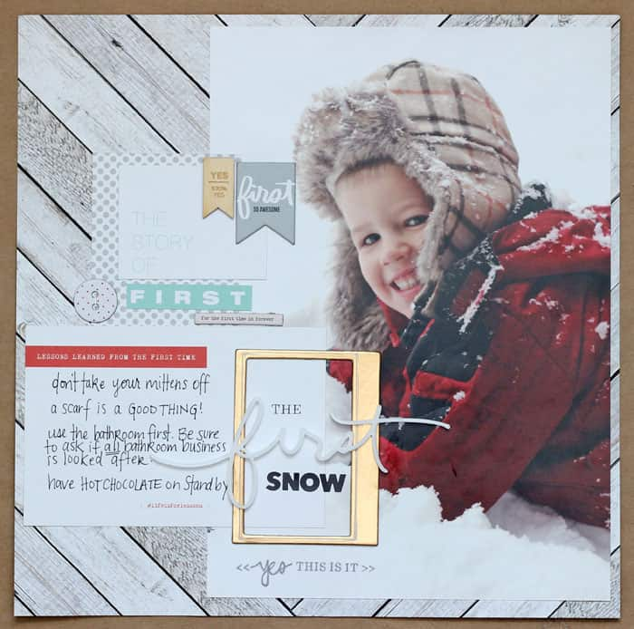 First Snow scrapbooking layout