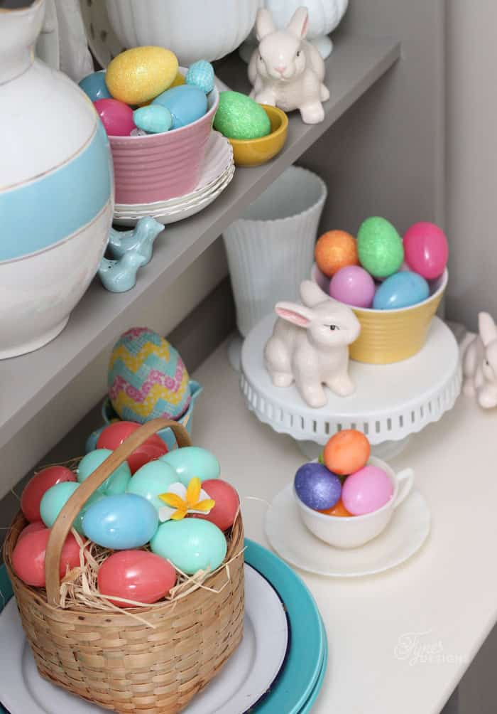 Bright and fun Easter hutch