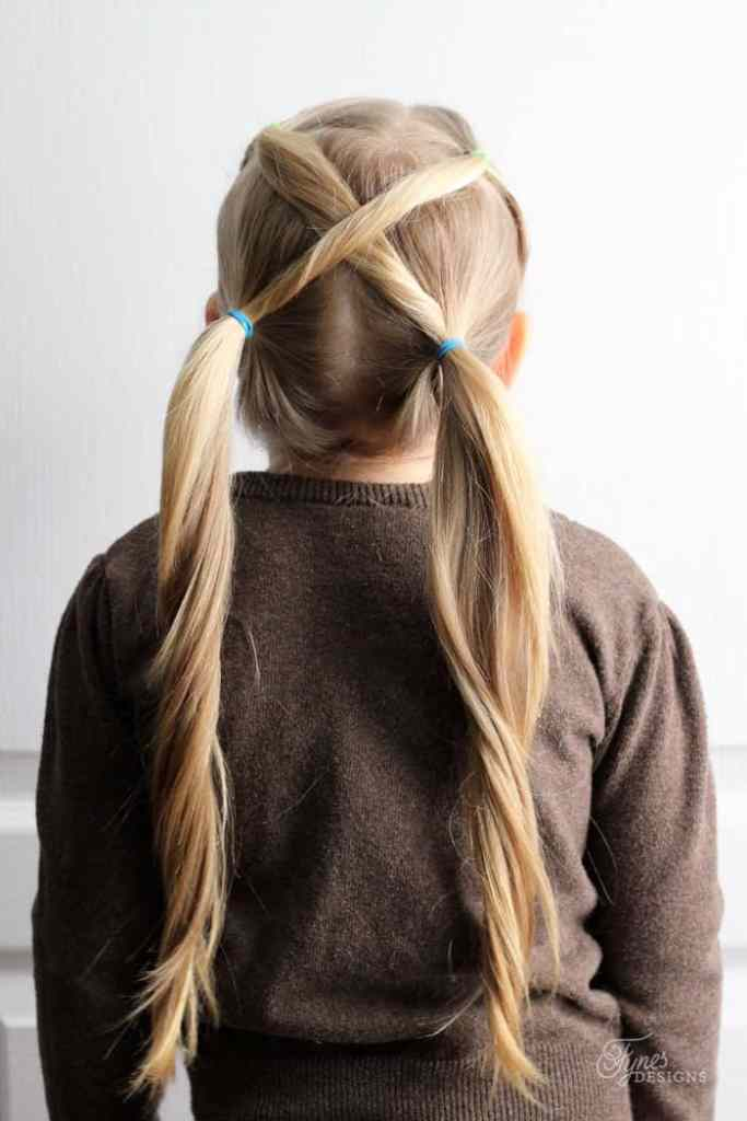 5 Minute Hairstyles for School featured by top US life and style blog, Fynes Designs |5 Minute Hairstyles by popular Canada lifestyle blog, Fynes Designs: image of a pigtail hairstyle.