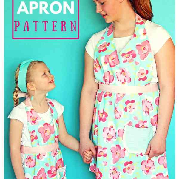 Matching aprons for mom and me! FREE pattern and tutorial. Makes a great gift