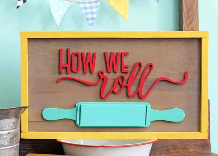 How We Roll Rolling Pin sign on reclaimed wood