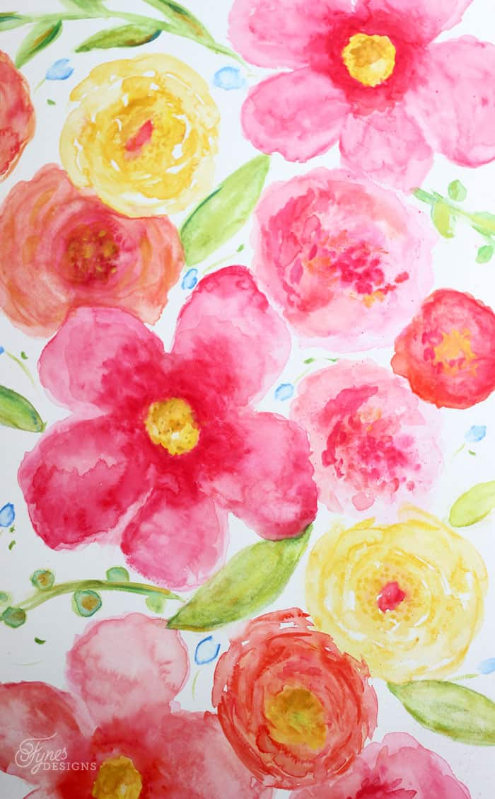 Large floral watercolor- beginner