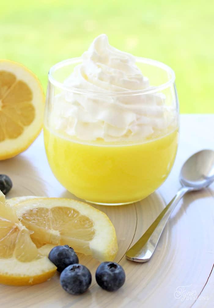 Weight Watchers Lemon Dessert, a recipe featured by top US life and style blog, Fynes Designs: No bake, 2 ingredient, weight watchers dessert. Tastes like yummy lemon meringue