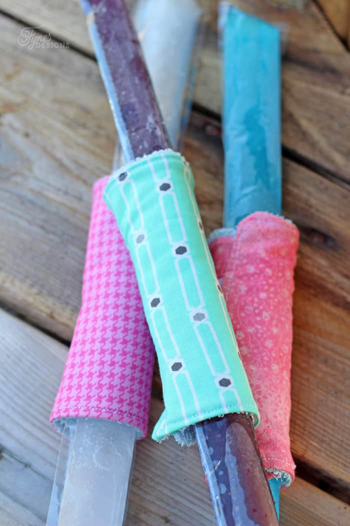 Easy to sew Freezie Coozie with a dollar store wash cloth