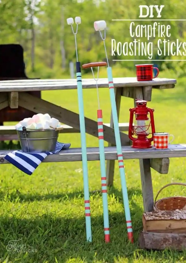 Easy to make DIY Marshmallow roasting sticks