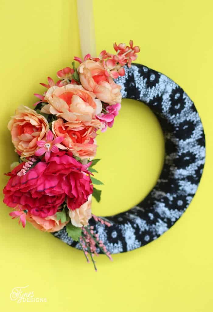 fake flower wreath made from a floral crown