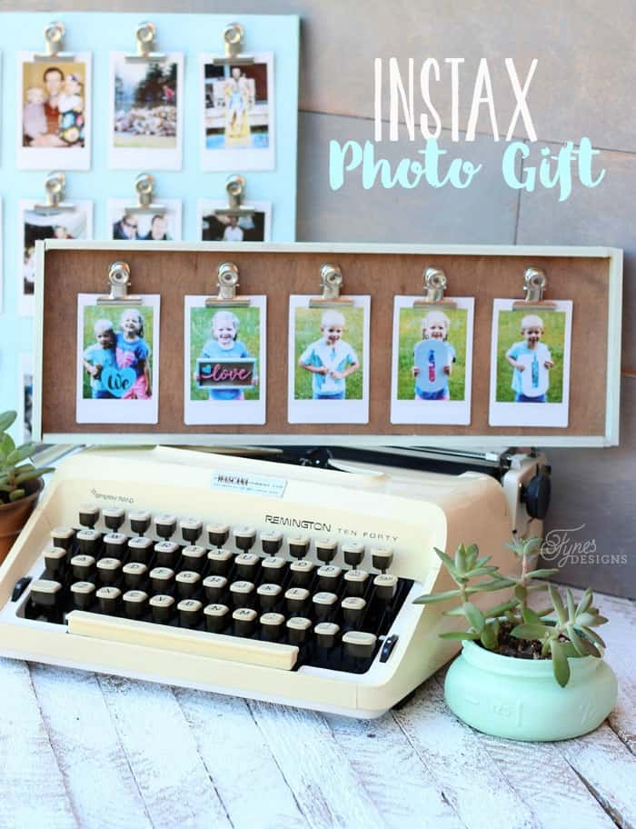 Instax photo gift idea. Snap a phone pic, print with the Instax SHARE printer, and clip to this easy DIY Frame. UNDER 10 Mins