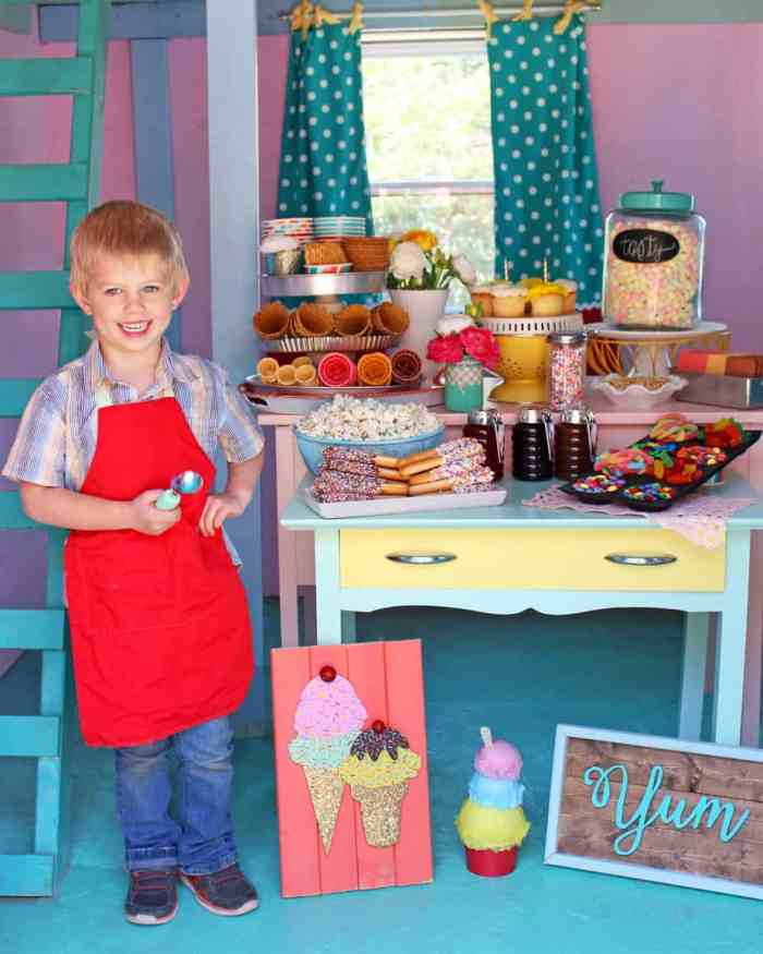 Playhouse Ice cream Sundae Birthday party