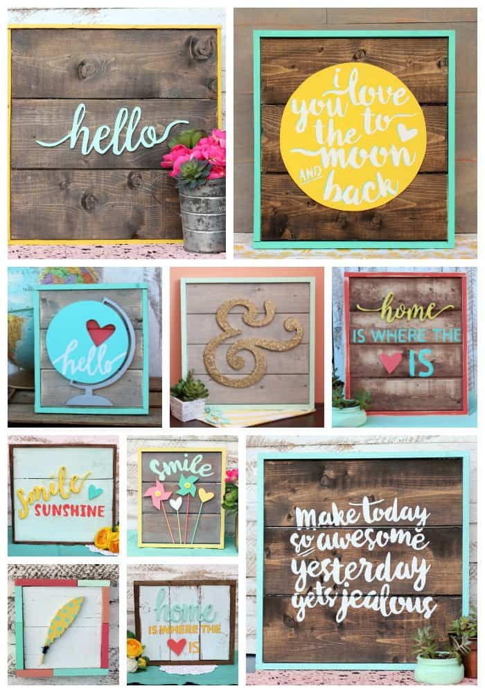 Handmade wall art signs from Fynes Designs