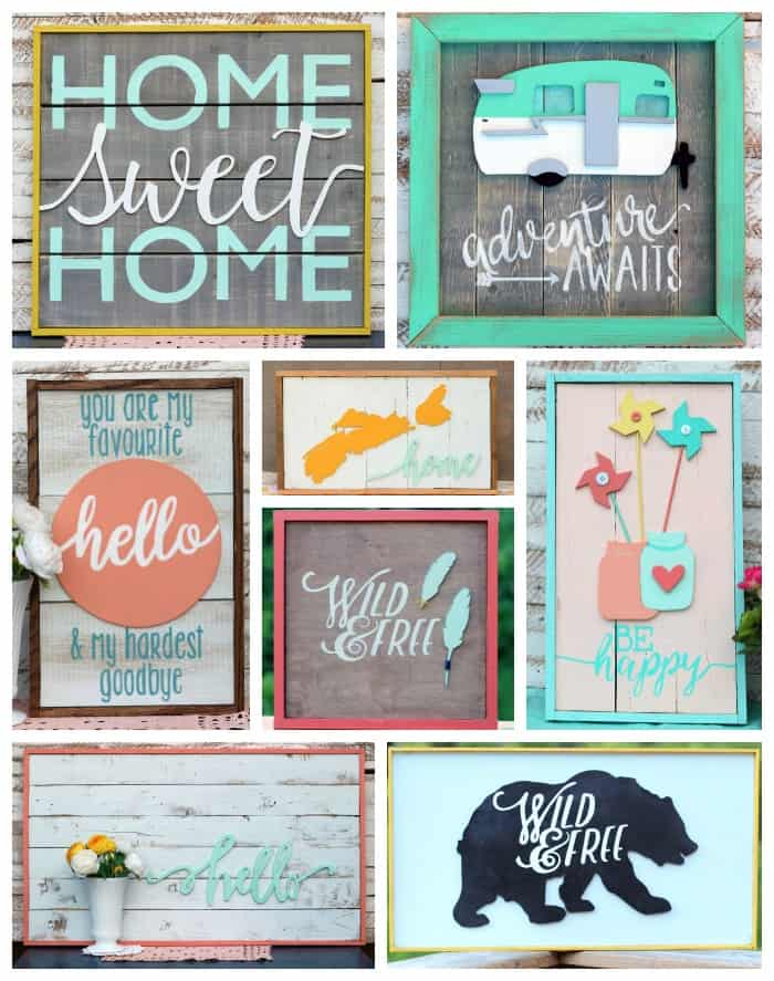 Scrolled and Painted signs from Fynes Designs