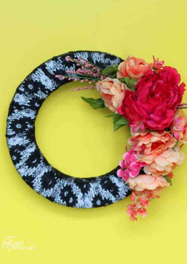 Fake Flower Wreath
