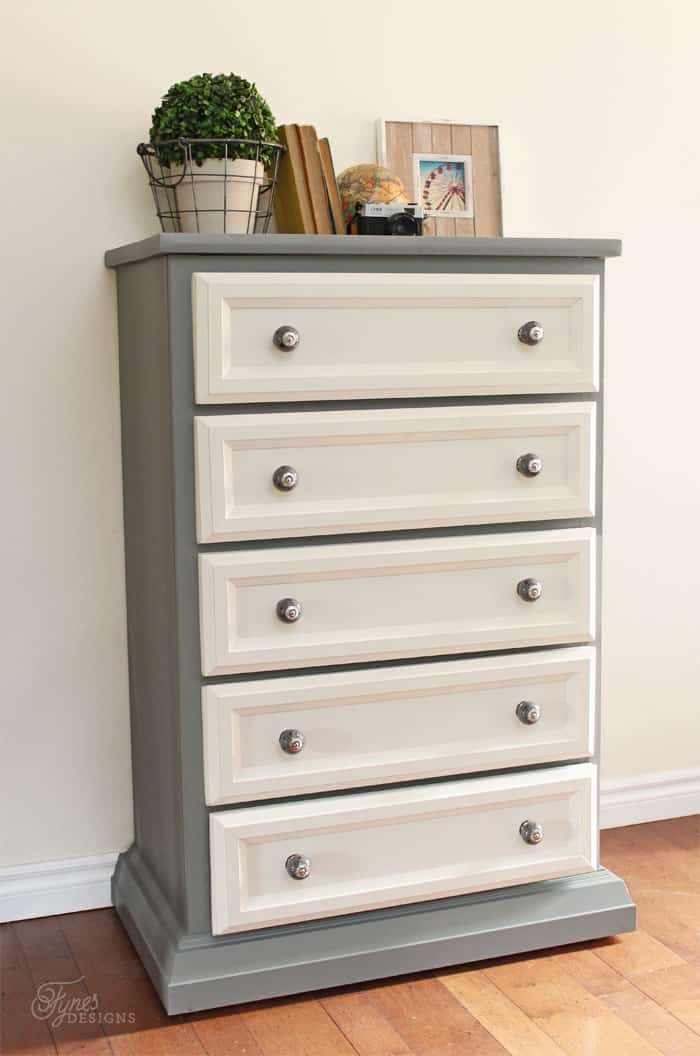 Tall Dresser Makeover Tutorial with Trim and Paint  FYNES DESIGNS  FYNES DESIGNS