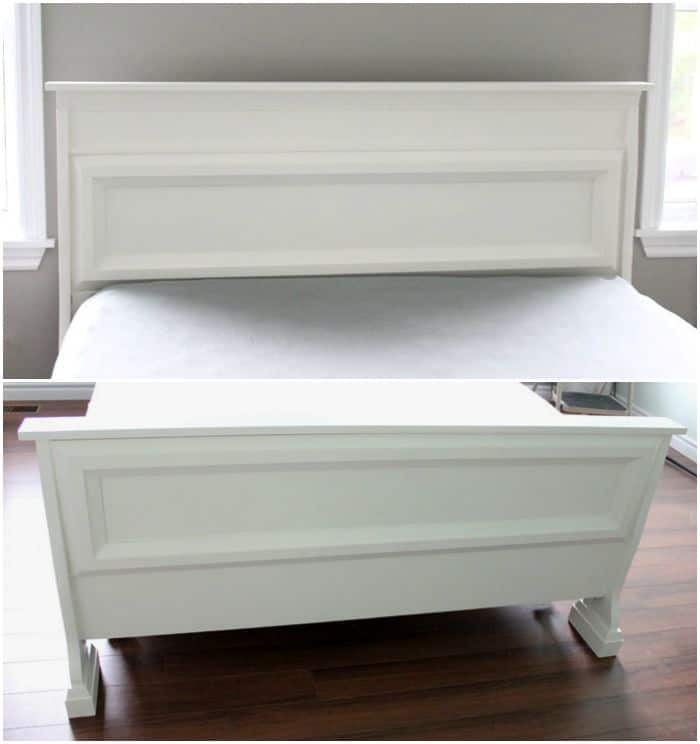 Create a new attractive bed by adding trim and paint