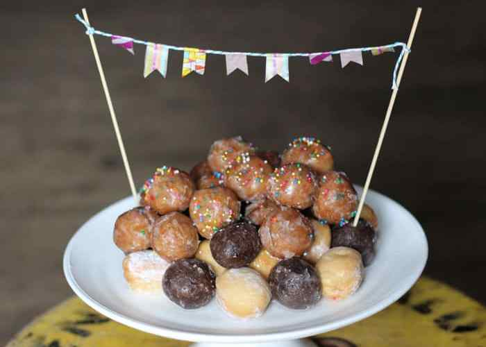 donut hole birthday cake